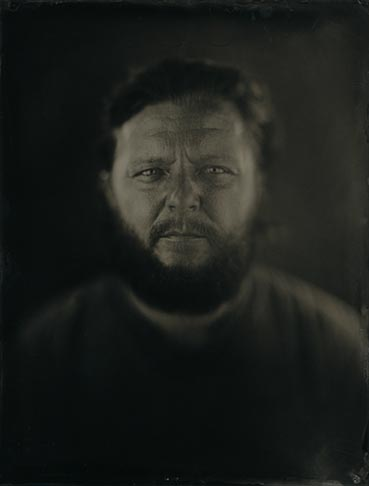 wet plate portrait of a man with a beard